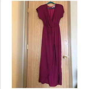 Chiffon raspberry burgundy dress